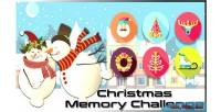 Memory christmas game html5 challenge