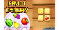 Memory fruit game memory html5