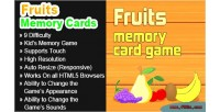 Memory fruits cards game html5 game