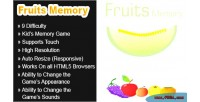 Memory fruits html5 game