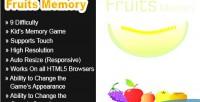 Memory fruits html5 game