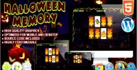 Memory halloween game puzzle html5