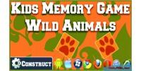 Memory kids animals wild games