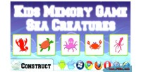 Memory kids creatures sea game