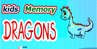 Memory kids game dragon