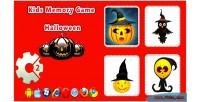 Memory kids game game html5 halloween