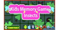 Memory kids game insects