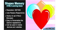 Memory shapes game learning html5
