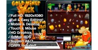 Miner gold jack html5 game 20 mobile levels version construct capx 2