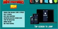 Monster mini run html5 mobile and