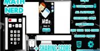 Nerd math score share game