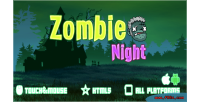 Night zombie game mobile html5