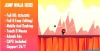 Ninja jump hero html5 game version mobile construct capx 2