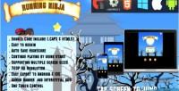 Ninja running html5 game ios android capx admob