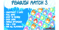 Penguin match 3 html5 game construct capx 2