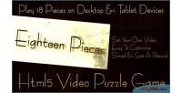 Pieces eighteen video game html5 puzzle