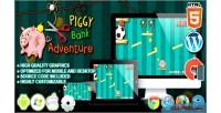 Piggybank adventure html5 construct game physic 2