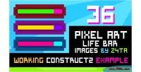 Pixel 36 bars life art