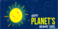 Planets happy game cards memory
