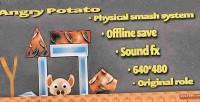 Potato angry html5 game