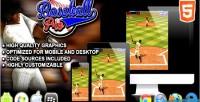 Pro baseball game sport html5