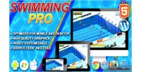 Pro swimming game sport html5