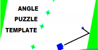 Puzzle angle template