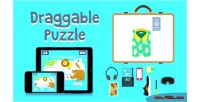 Puzzle draggable html5 game