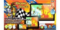 Race bionic game running html5