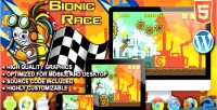Race bionic game running html5