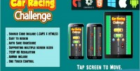 Racing car challenge html5 mobile game version html capx