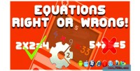 Right equations, game html5 wrong
