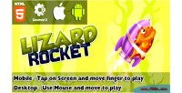 Rocket lizard html5 capx game