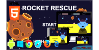 Rocket rescue html5 phaser game arcade mobile