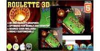 Roulette 3d game casino html5