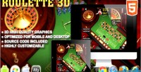 Roulette 3d game casino html5