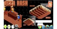 Rush beer game arcade html5