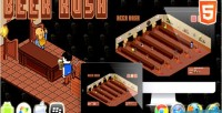 Rush beer game arcade html5