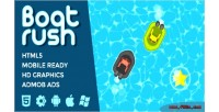 Rush boat game racing water
