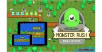 Rush monster tower game html5 defense