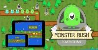 Rush monster tower game html5 defense