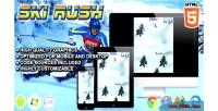 Rush ski game sport html5