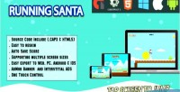 Santa running full screen html5 web game android ios capx admob