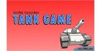 Screen touch dual shooter tank joystick