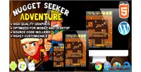 Seeker nugget adventure game arcade html5