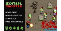 Shooter zombie platformer isometric html5