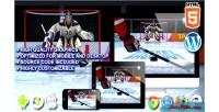 Shootout hockey game sport html5
