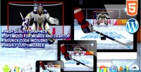 Shootout hockey game sport html5