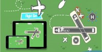 Sim flight html5 game