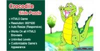 Slide crocodile game html5 puzzle